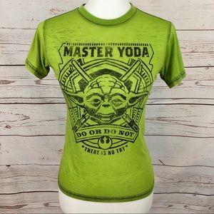 Star Wars Yoda Neon Green Burnout Tee